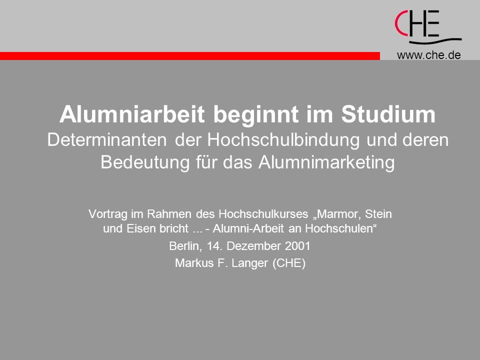 Alumniarbeit beginnt im Studium Determinanten der Hochschulbindung und deren Bedeutung für das Alumnimarketing