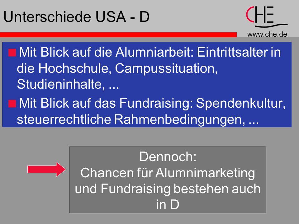 Chancen für Alumnimarketing und Fundraising bestehen auch in D