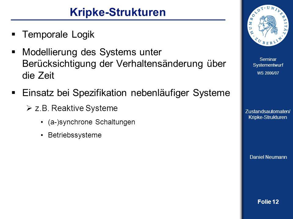 Kripke-Strukturen Temporale Logik
