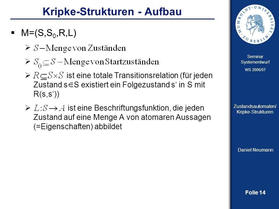 Kripke-Strukturen - Aufbau