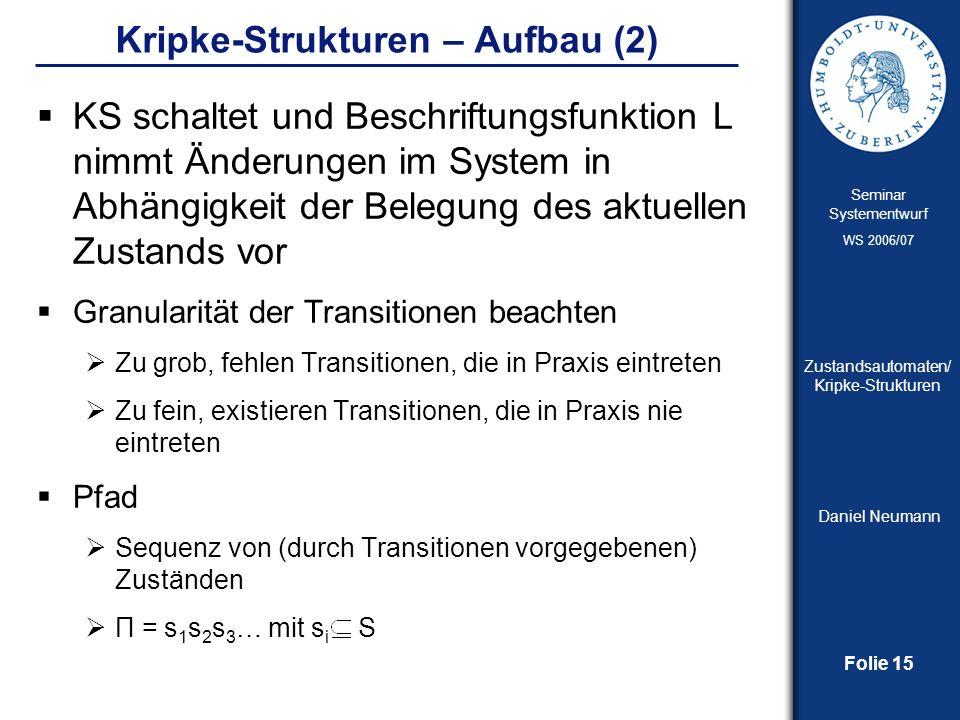 Kripke-Strukturen – Aufbau (2)