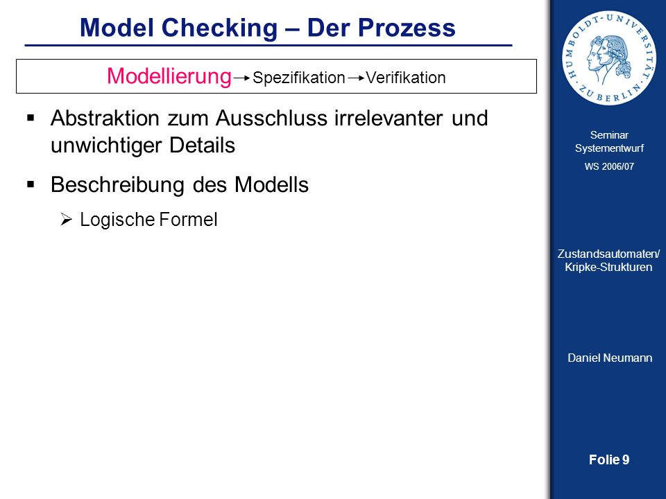 Model Checking – Der Prozess