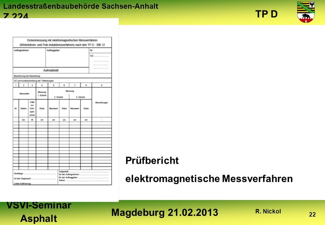 Prüfbericht elektromagnetische Messverfahren