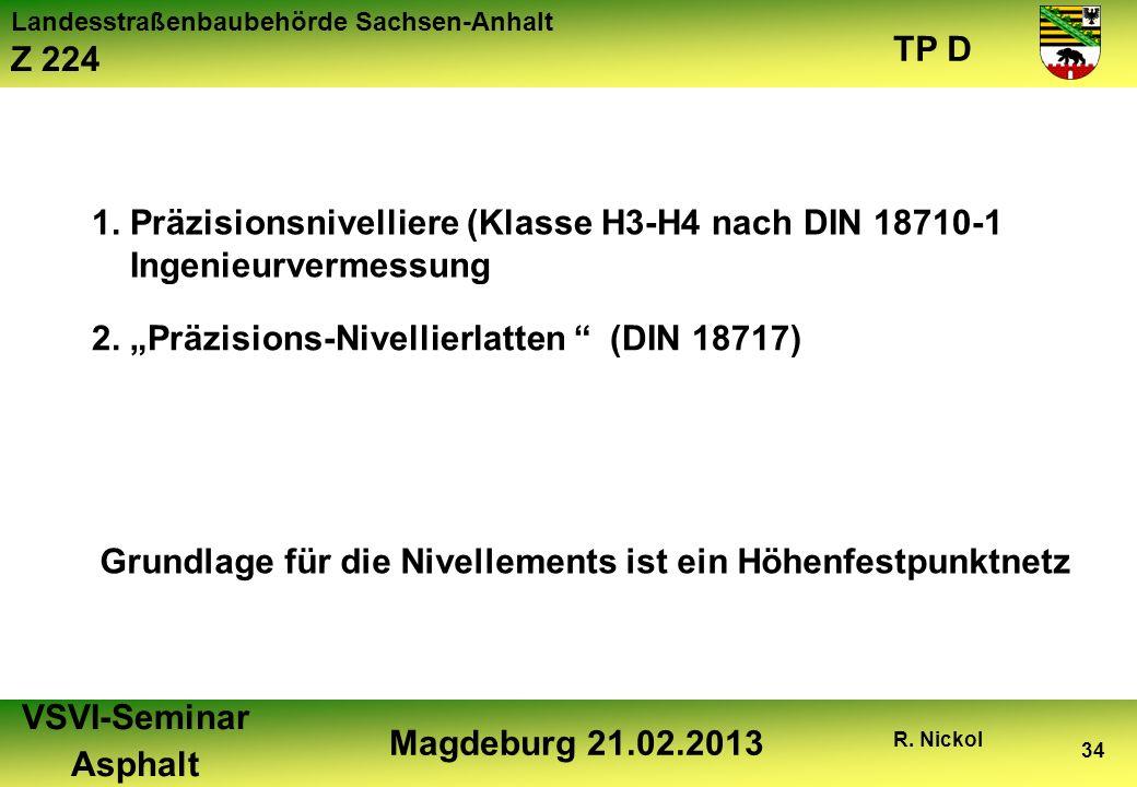 1. Präzisionsnivelliere (Klasse H3-H4 nach DIN 18710-1