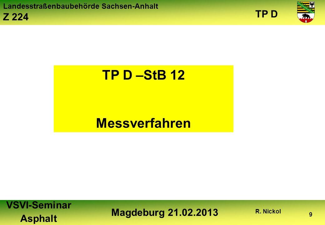 TP D –StB 12 Messverfahren
