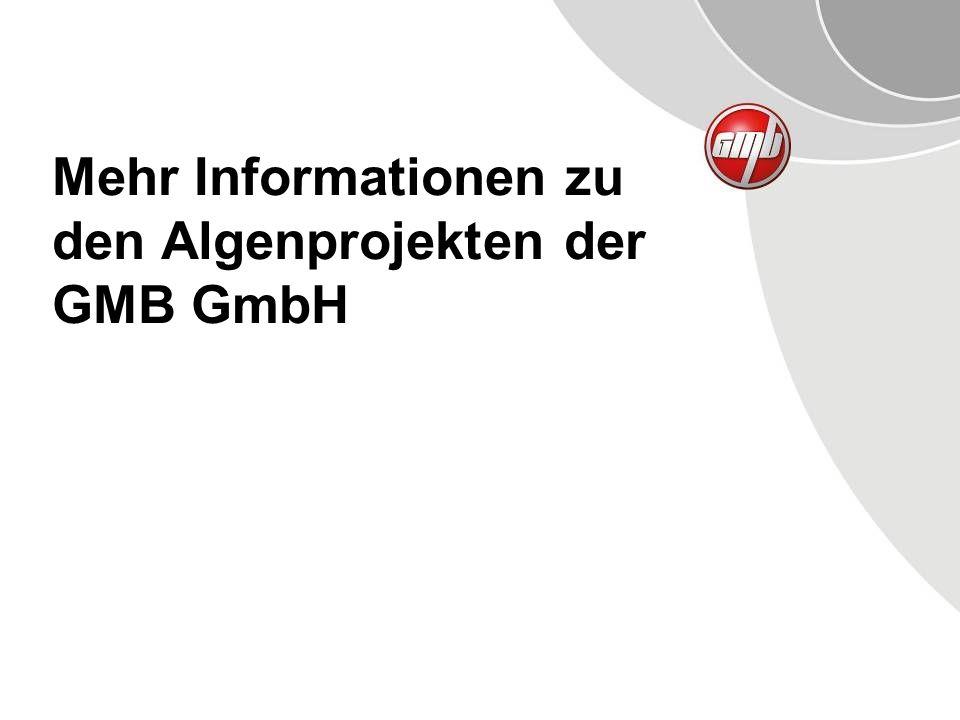 Mehr Informationen zu den Algenprojekten der GMB GmbH