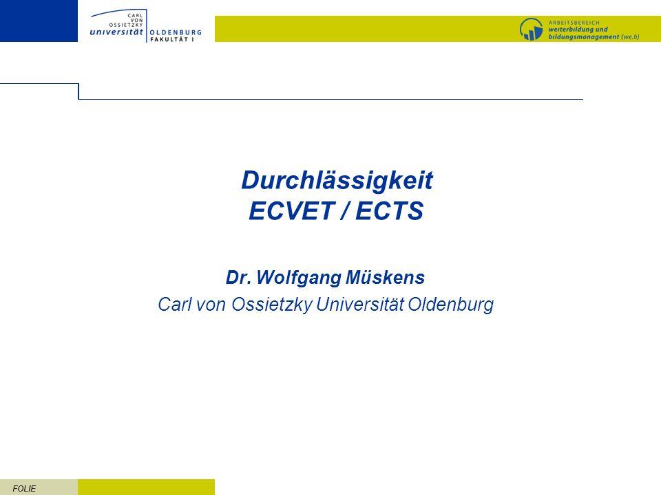Durchlässigkeit ECVET / ECTS