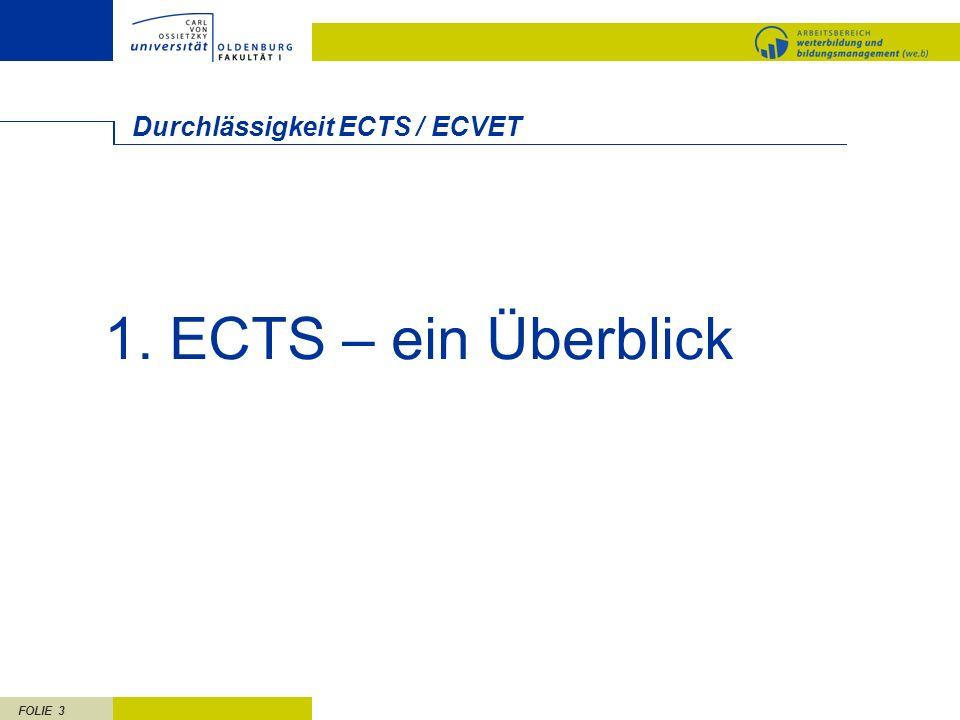 Durchlässigkeit ECTS / ECVET