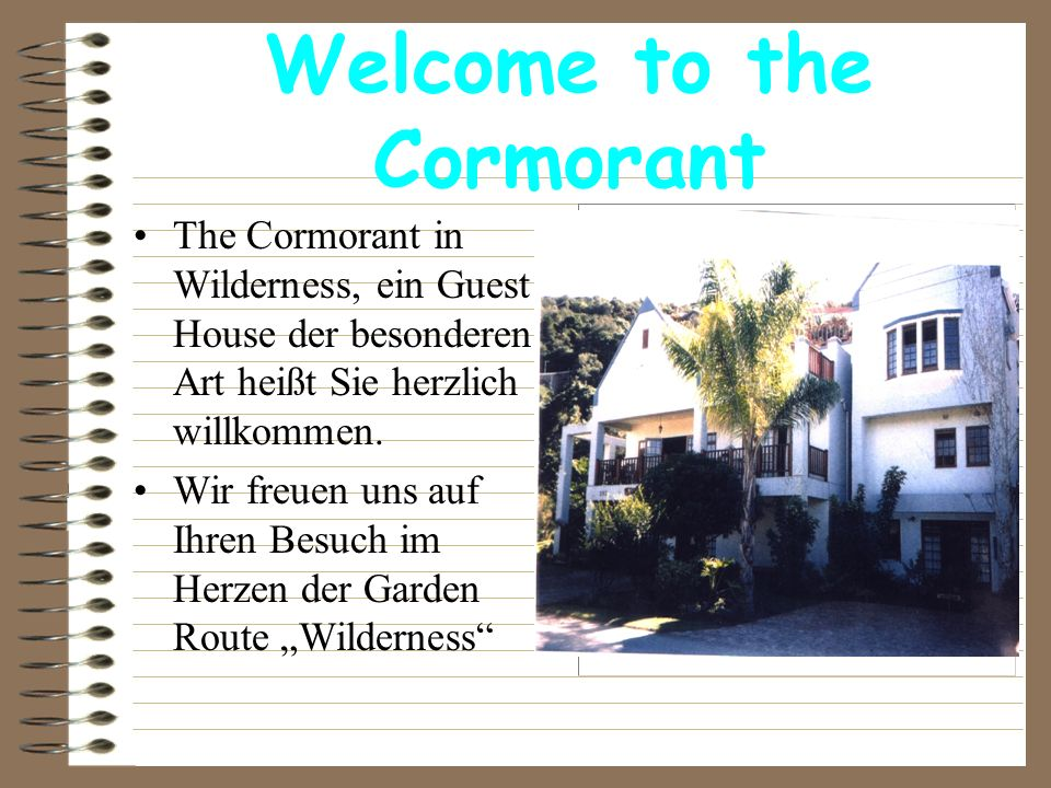 Welcome to the Cormorant