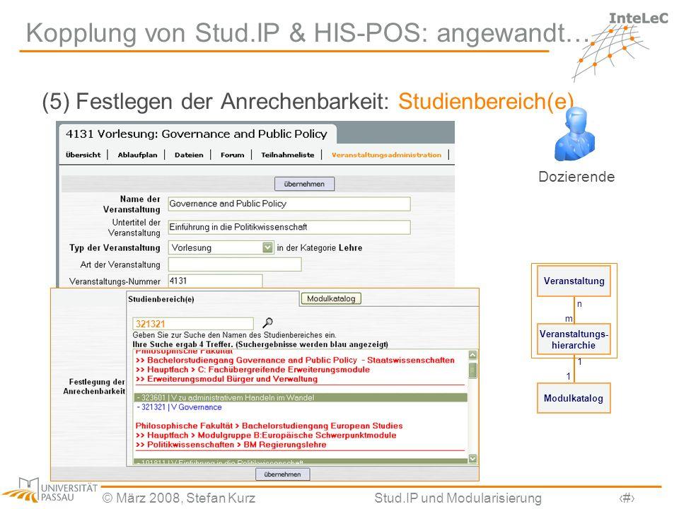 Kopplung von Stud.IP & HIS-POS: angewandt…