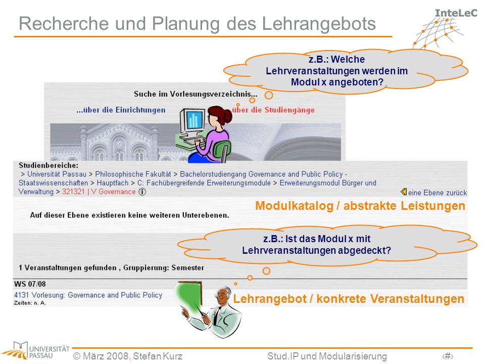 Recherche und Planung des Lehrangebots