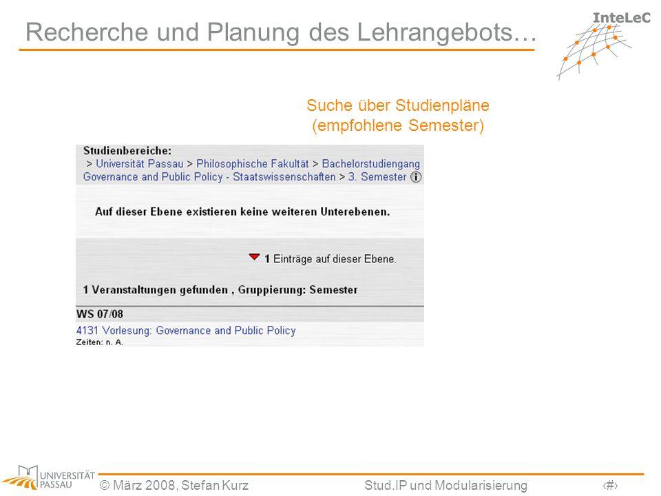 Recherche und Planung des Lehrangebots…