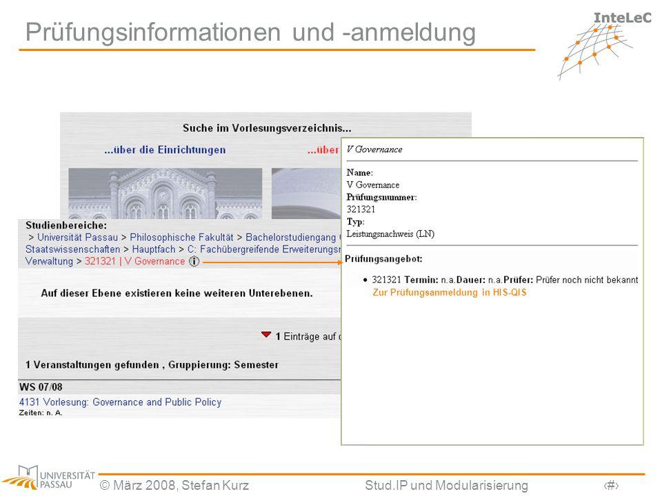 Prüfungsinformationen und -anmeldung