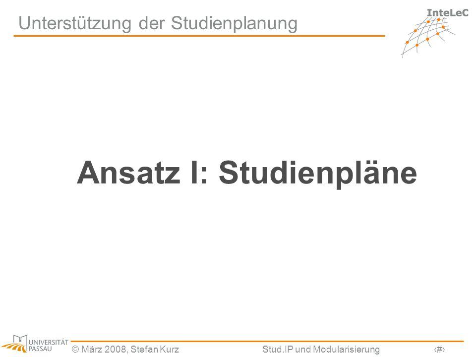 Unterstützung der Studienplanung