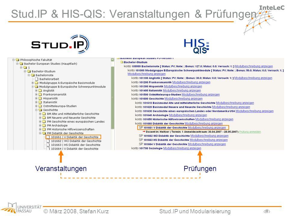 Stud.IP & HIS-QIS: Veranstaltungen & Prüfungen