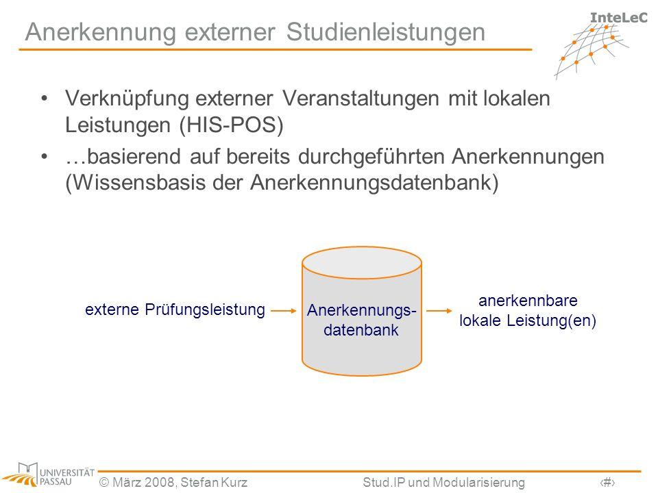 Anerkennung externer Studienleistungen