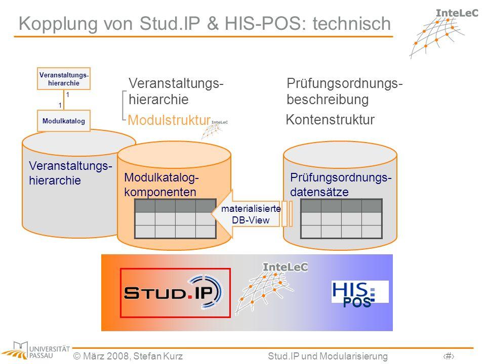 Kopplung von Stud.IP & HIS-POS: technisch