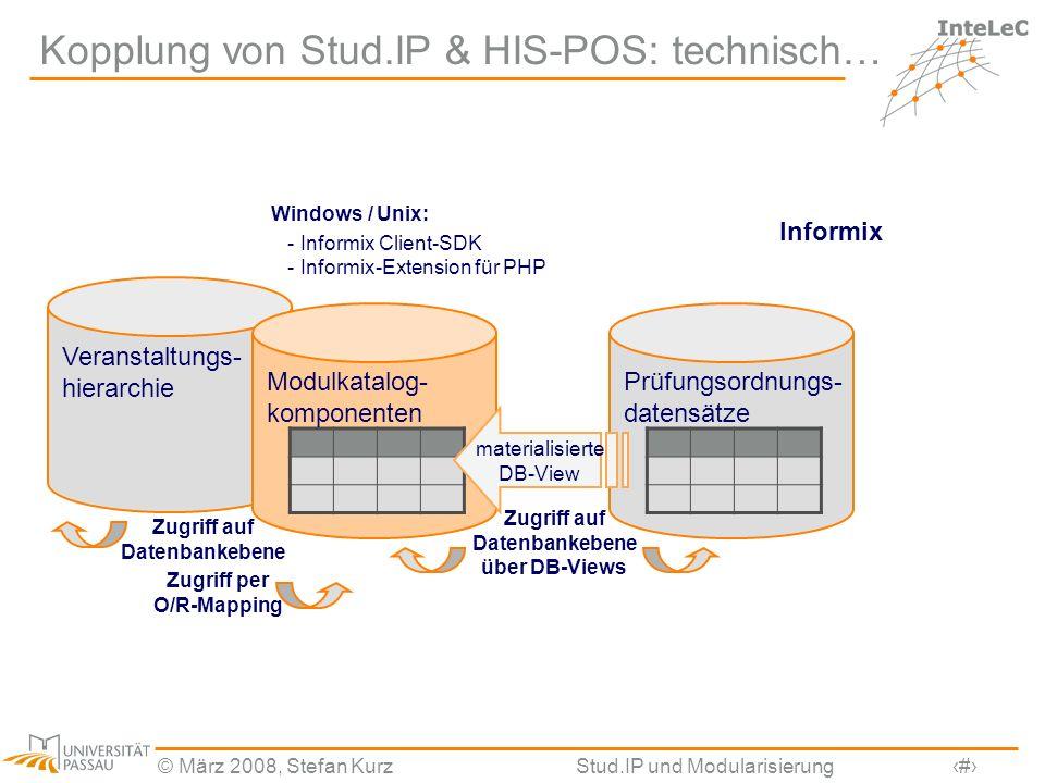 Kopplung von Stud.IP & HIS-POS: technisch…