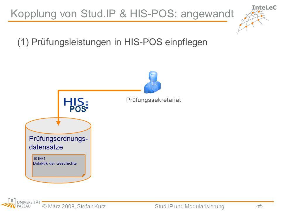 Kopplung von Stud.IP & HIS-POS: angewandt