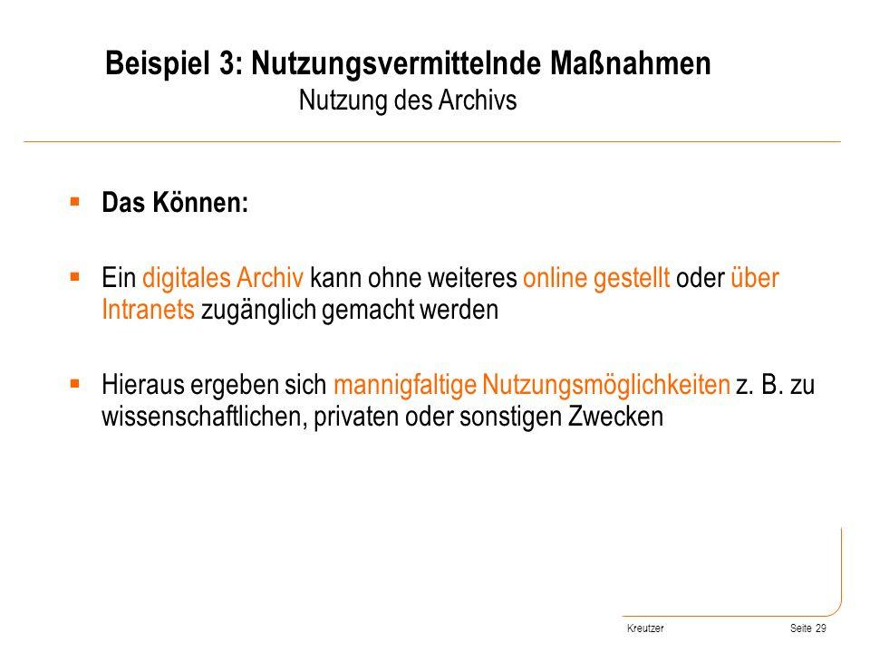 Beispiel 3: Nutzungsvermittelnde Maßnahmen