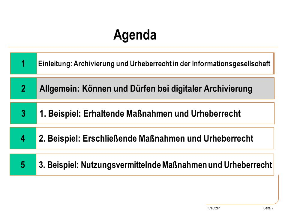 Agenda 1 2 Allgemein: Können und Dürfen bei digitaler Archivierung 3