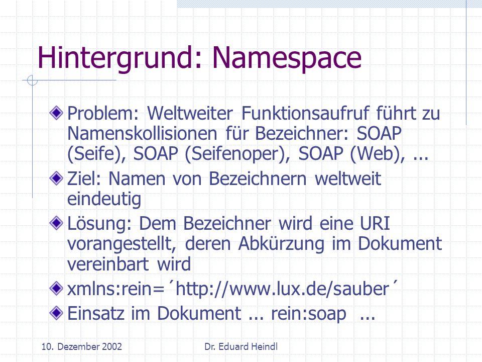 Hintergrund: Namespace