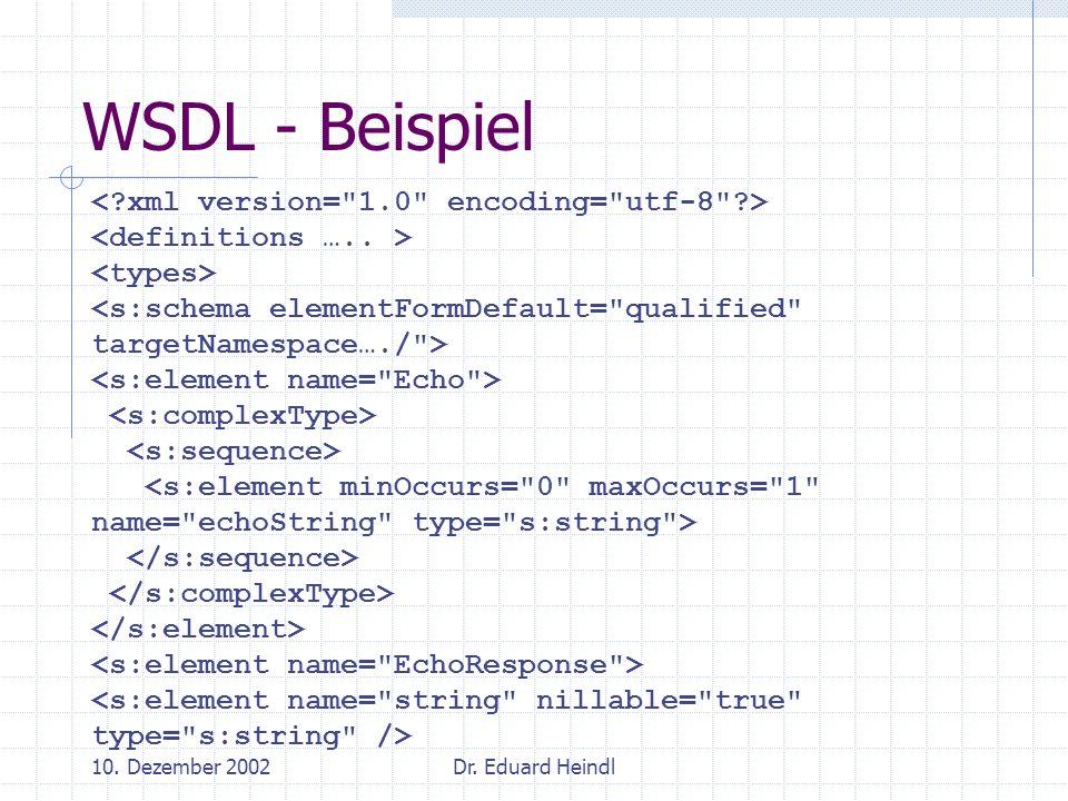 WSDL - Beispiel