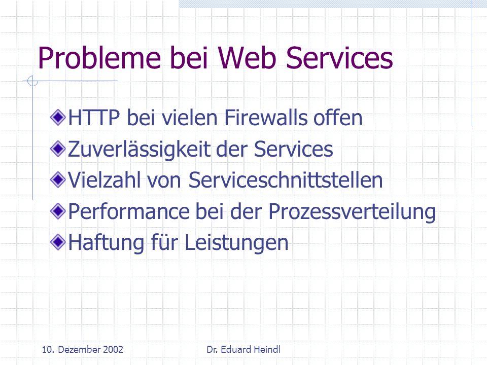 Probleme bei Web Services