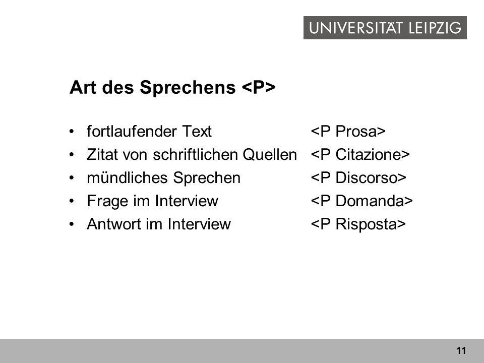 Art des Sprechens <P>