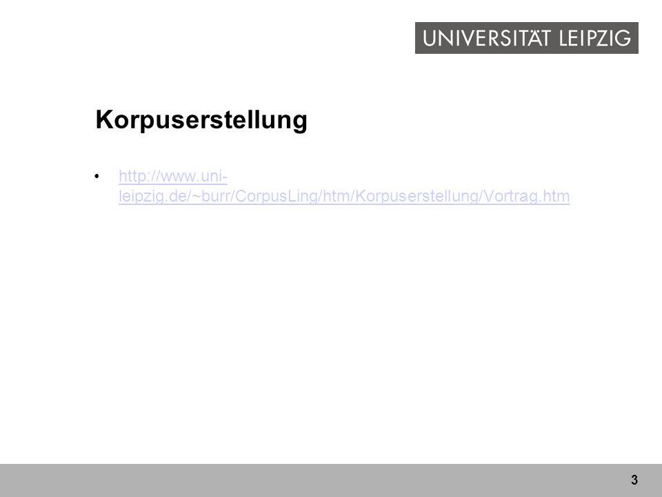 Korpuserstellung http://www.uni-leipzig.de/~burr/CorpusLing/htm/Korpuserstellung/Vortrag.htm