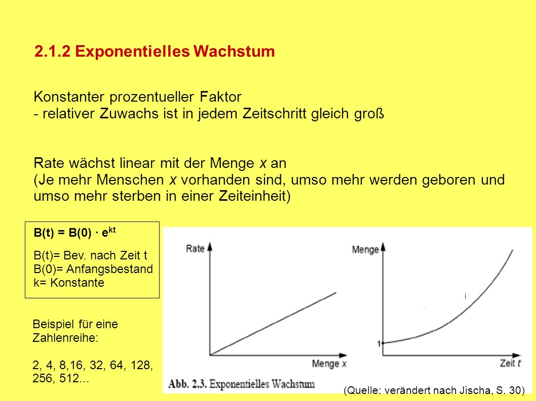 2.1.2 Exponentielles Wachstum