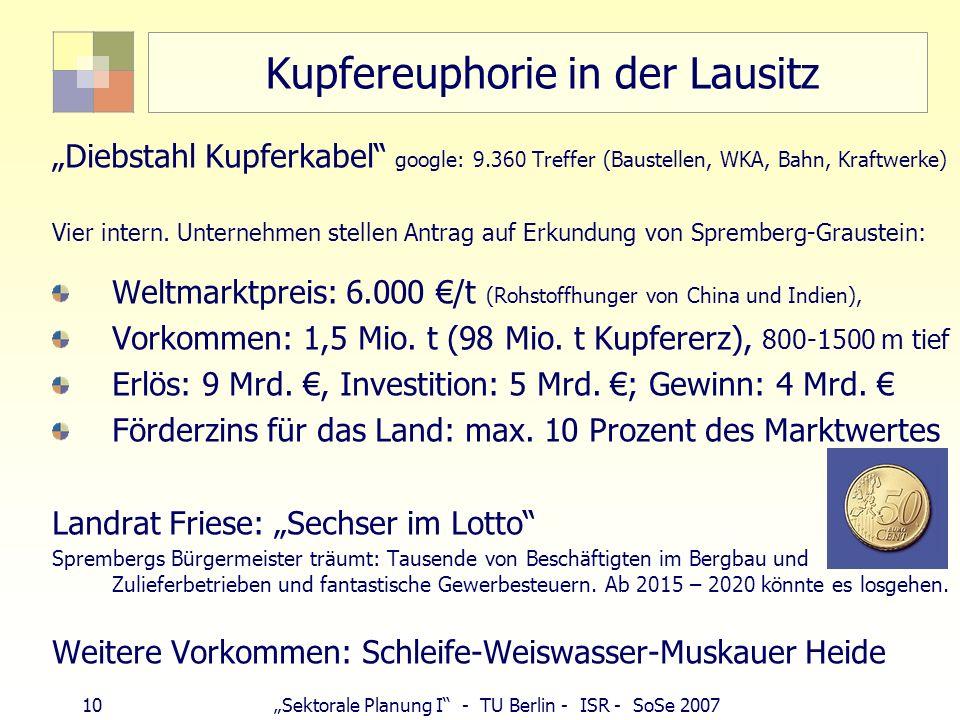 Kupfereuphorie in der Lausitz