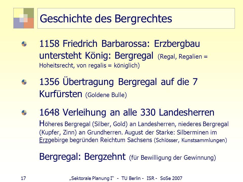 Geschichte des Bergrechtes
