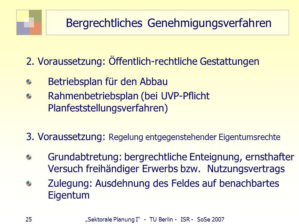 Bergrechtliches Genehmigungsverfahren