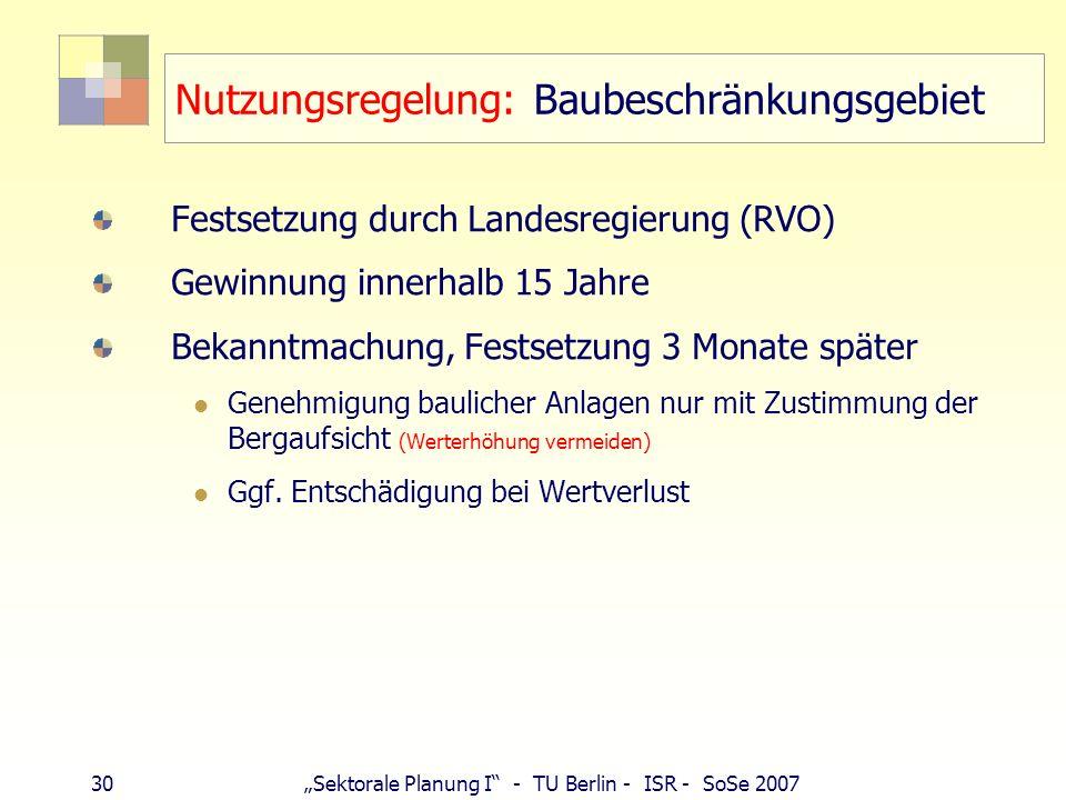 Nutzungsregelung: Baubeschränkungsgebiet