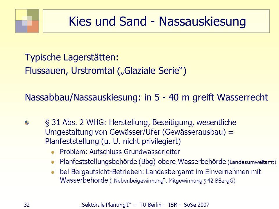 Kies und Sand - Nassauskiesung
