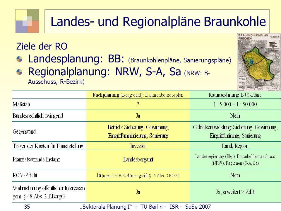 Landes- und Regionalpläne Braunkohle