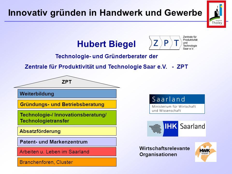 Hubert Biegel Technologie- und Gründerberater der