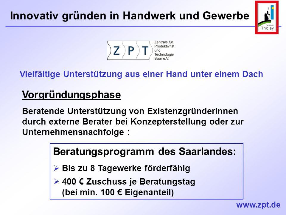 Beratungsprogramm des Saarlandes: