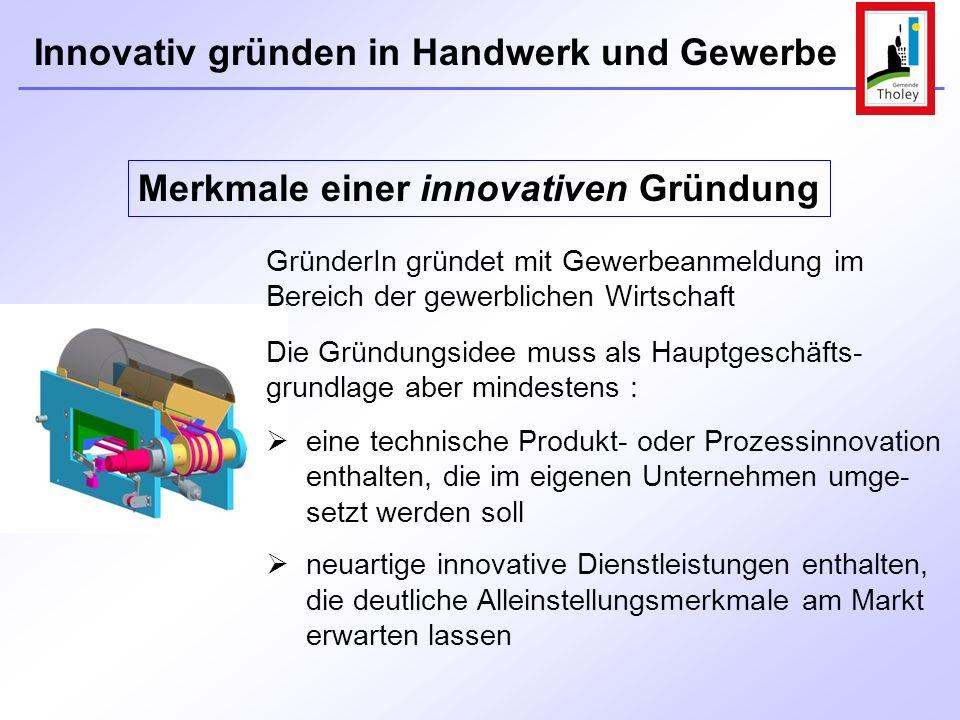 Merkmale einer innovativen Gründung
