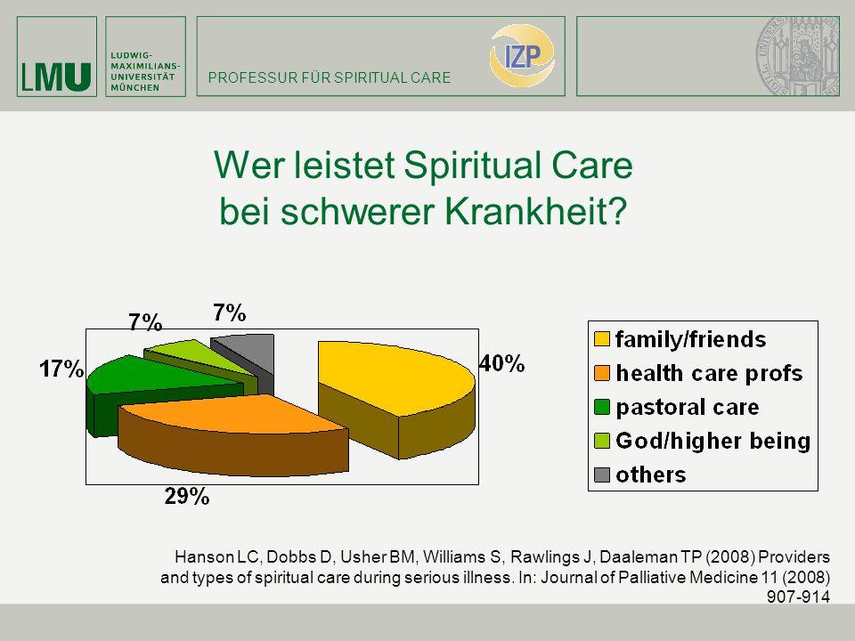 Wer leistet Spiritual Care bei schwerer Krankheit