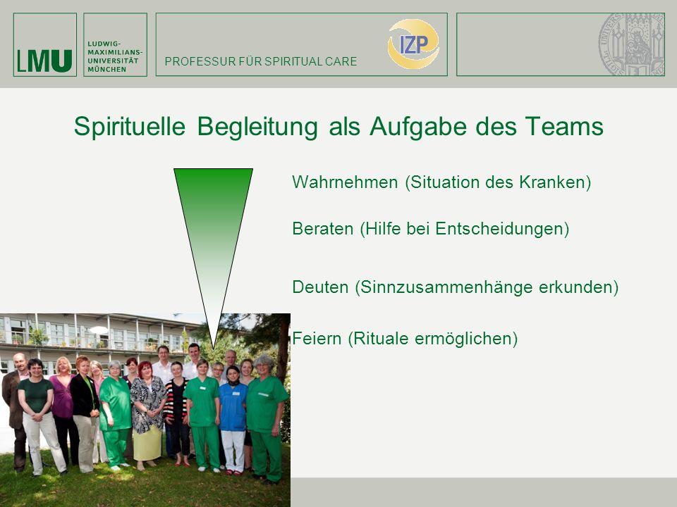 Spirituelle Begleitung als Aufgabe des Teams