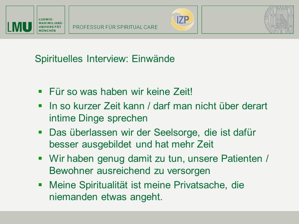 Spirituelles Interview: Einwände