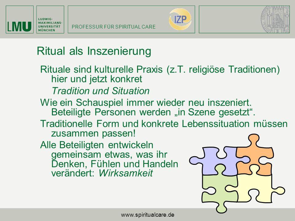 Ritual als Inszenierung