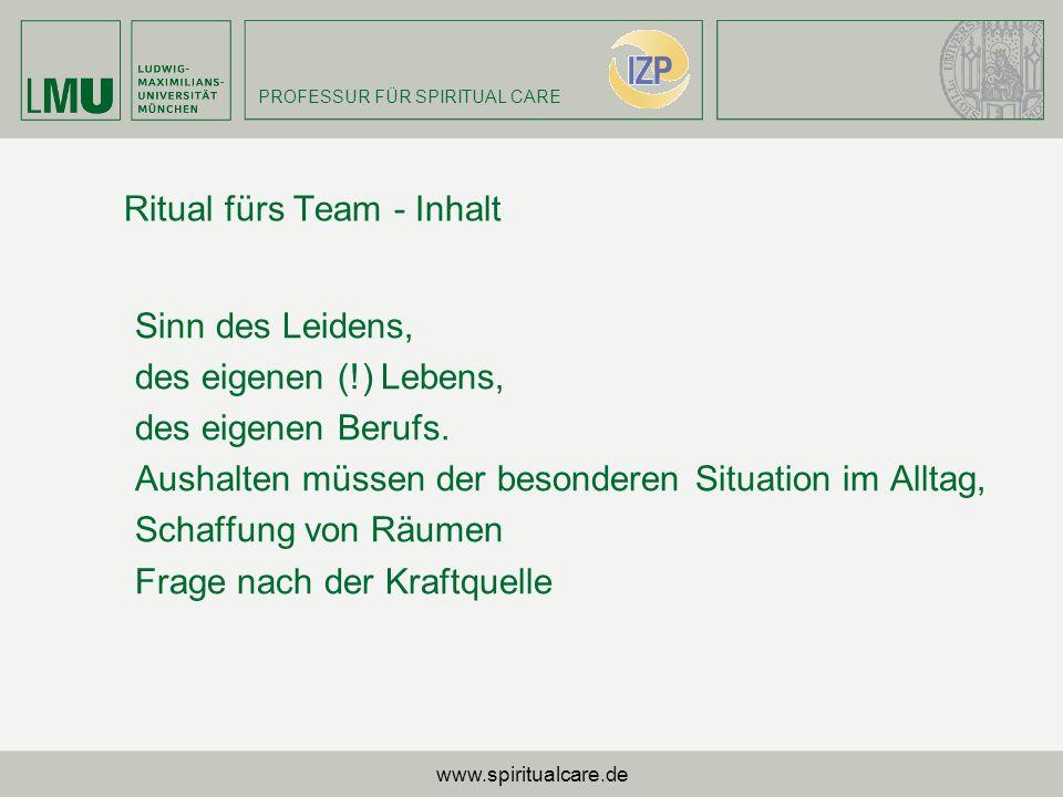 Ritual fürs Team - Inhalt