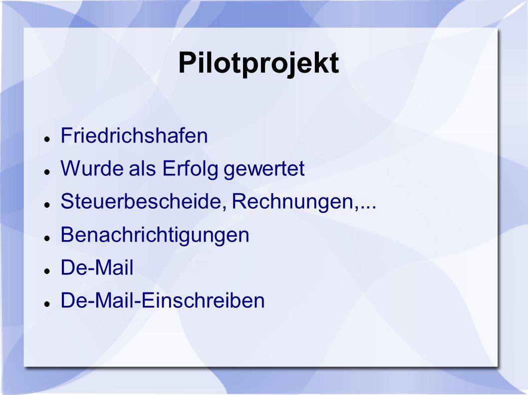Pilotprojekt Friedrichshafen Wurde als Erfolg gewertet