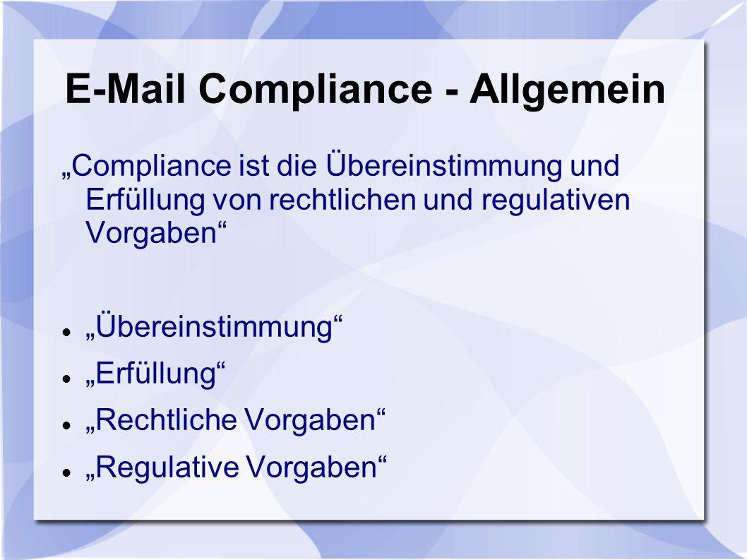 E-Mail Compliance - Allgemein