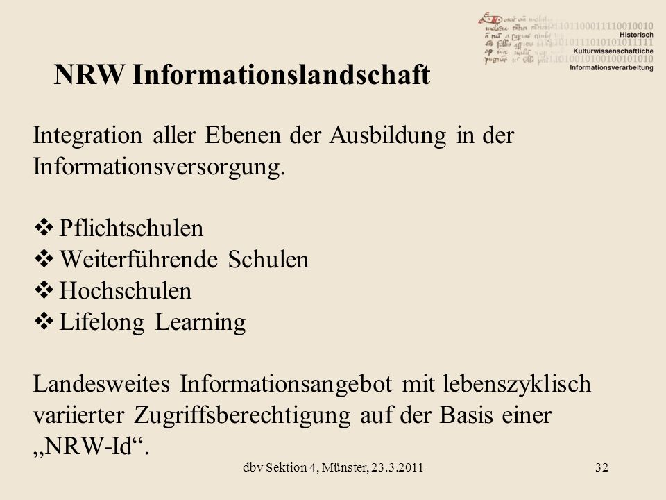 NRW Informationslandschaft