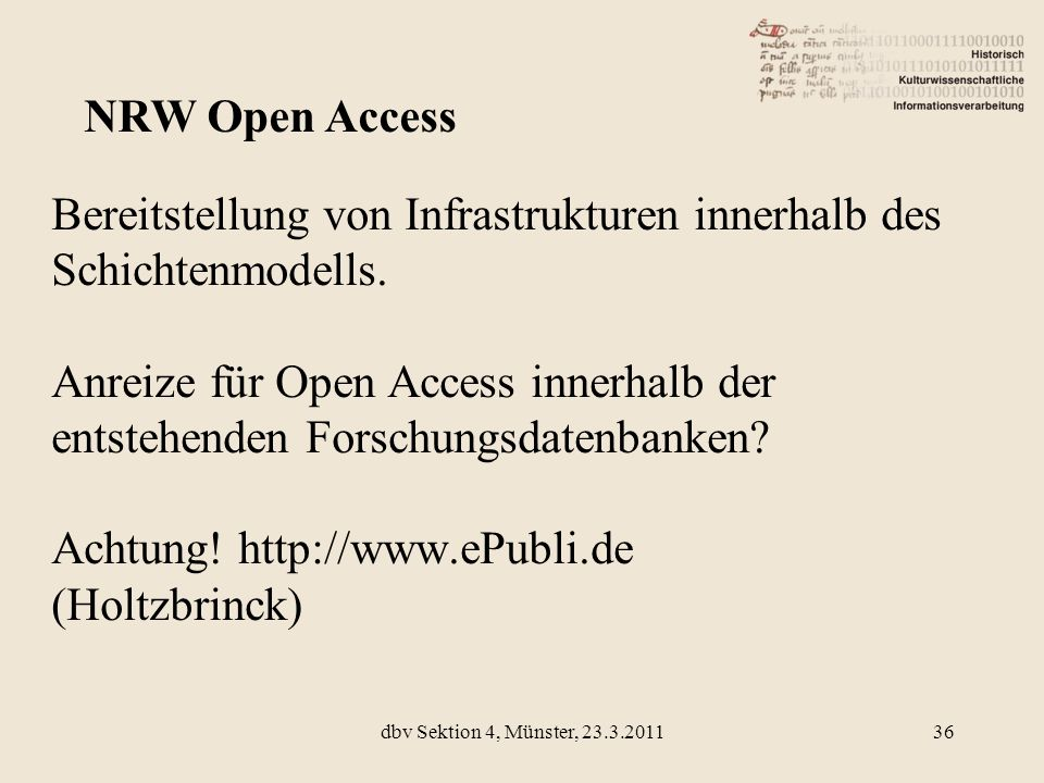 NRW Open Access
