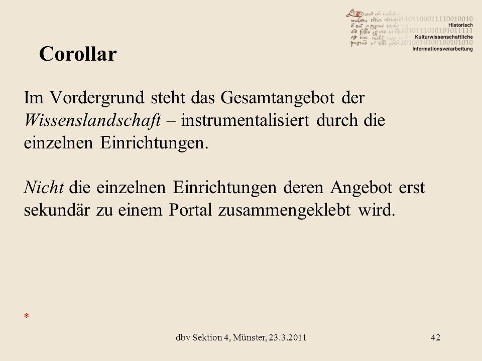 Corollar Im Vordergrund steht das Gesamtangebot der Wissenslandschaft – instrumentalisiert durch die einzelnen Einrichtungen.